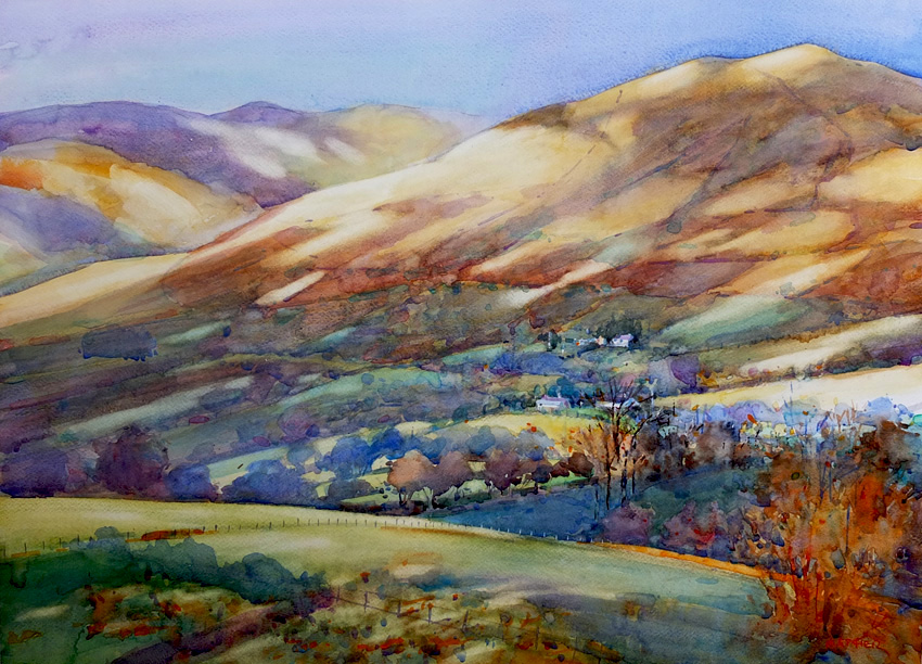 The Grisedale Fells. 32 x 24 inches. SOLD
