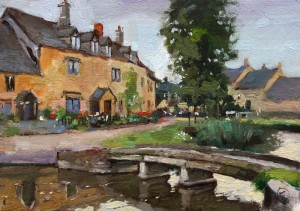 Water under the bridge, Lower Slaughter