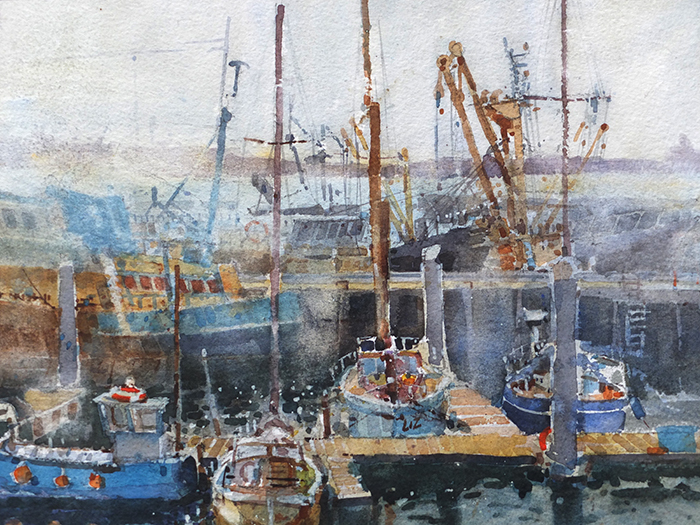 Misty morning in Newlyn  £300