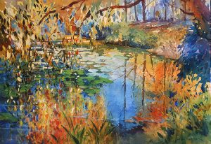 Sunlight on the pond
