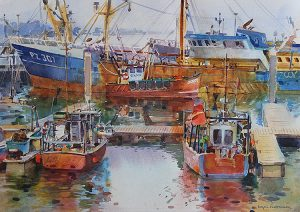 Trawlers in Newlyn