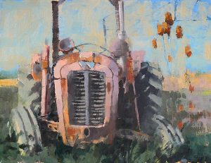 Tractor and Teasels