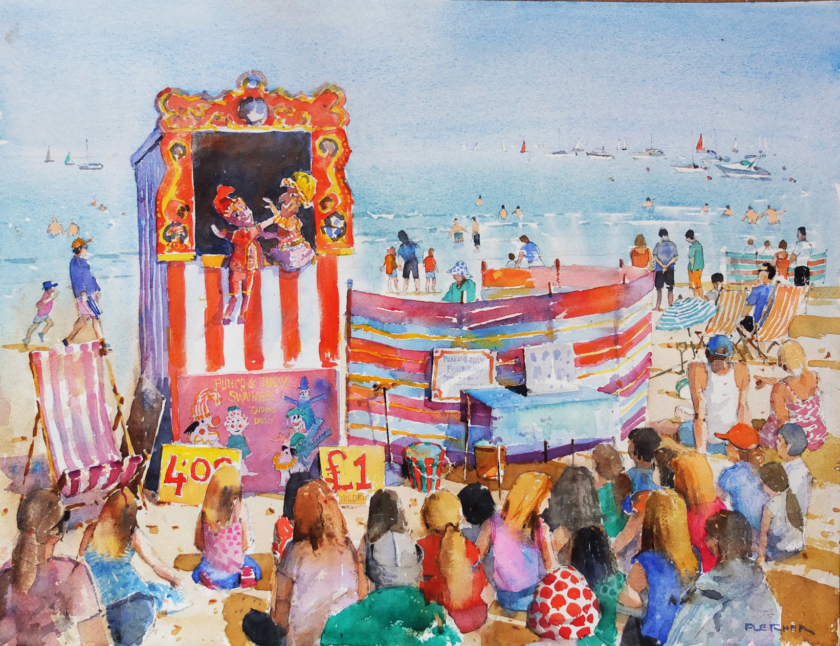 Punch & Judy in Swanage
