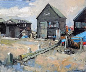Fishermans huts in Southwold harbour