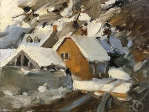 Snow covered thatch, 2