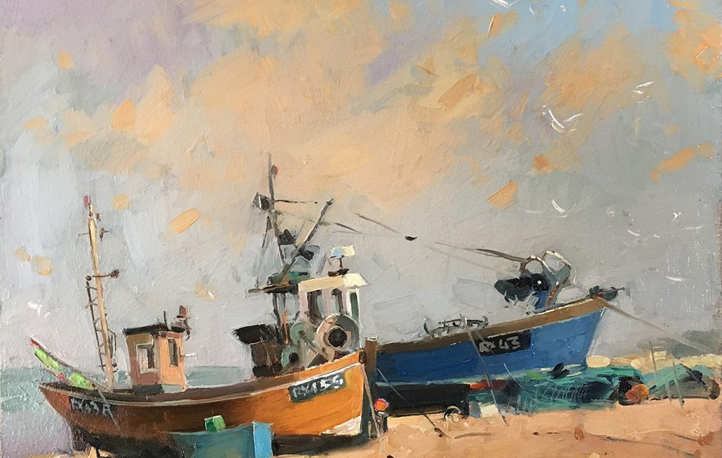 Fishing Boats in Hastings