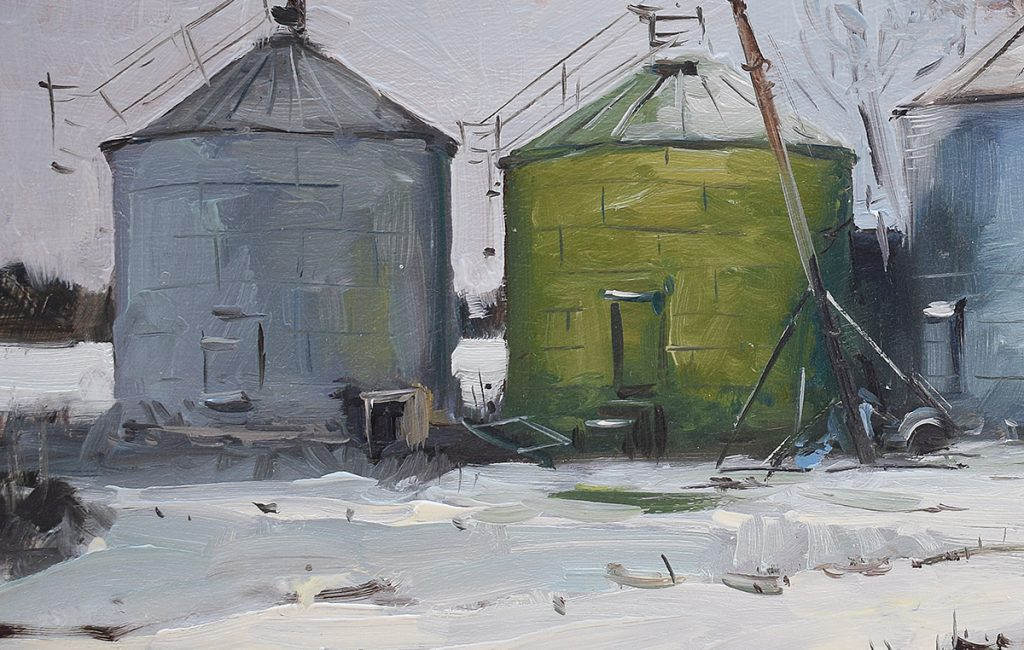Two Old Silo's at Folly Farm/Detail