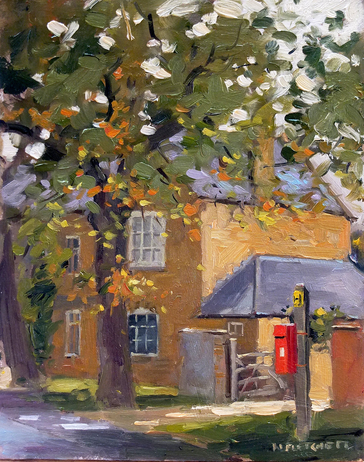 The red postbox, Oxhill