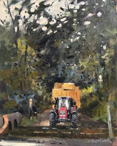 Tractor crossing Traitor's Ford
