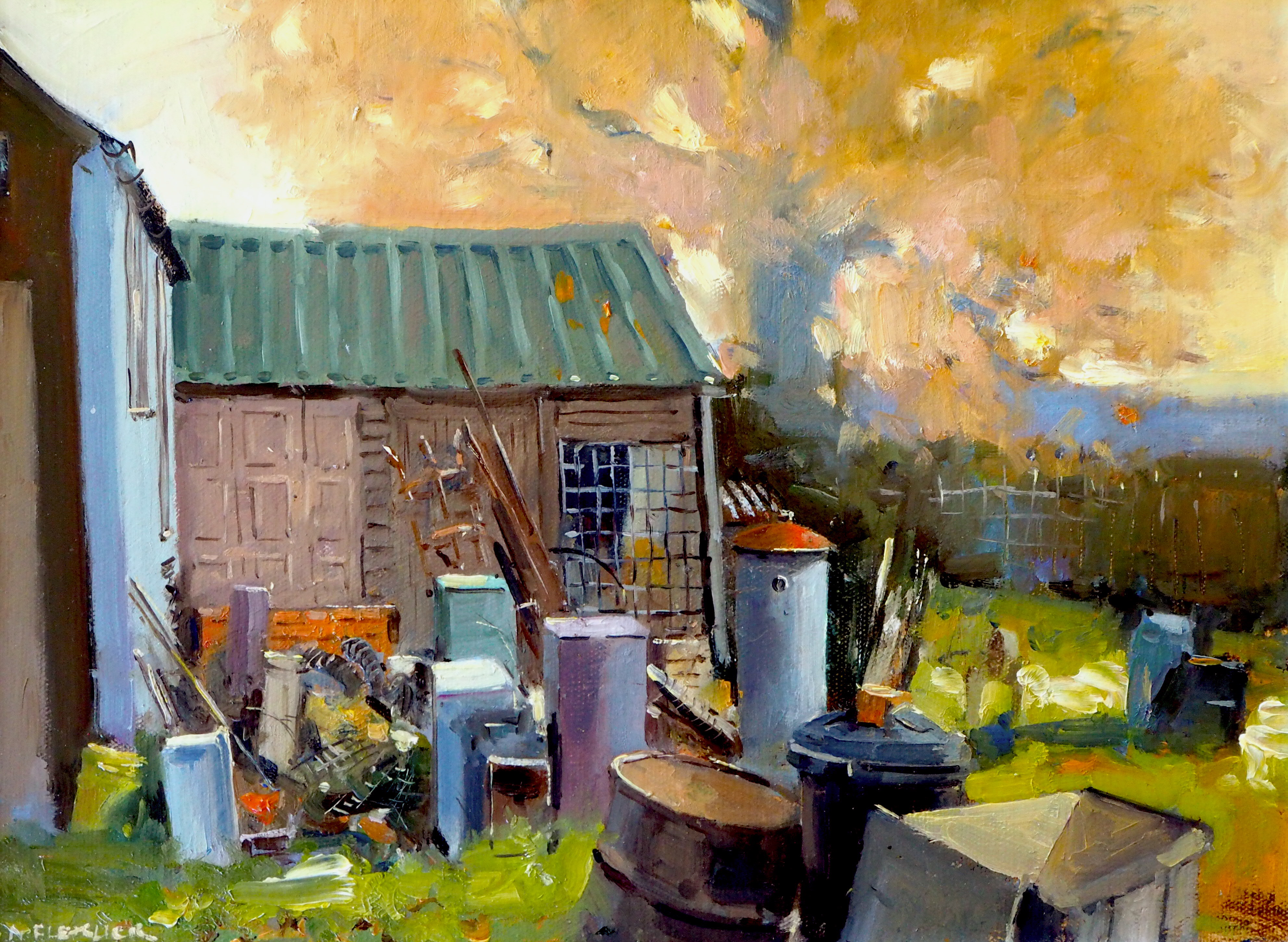 Autumn over Fred's Shed's